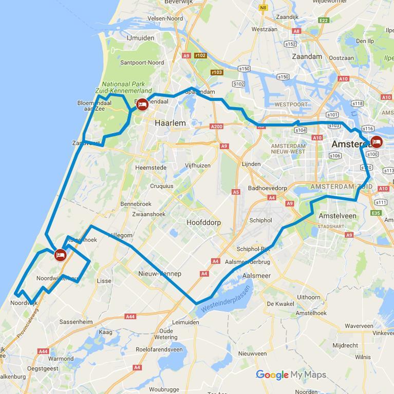 Spiagge dune citt dutch biketours for Alloggio a amsterdam